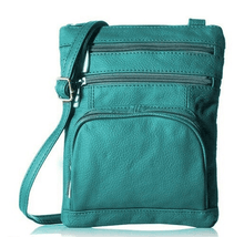 Leather Crossbody Bag with Shoulder Strap Handbags Teal