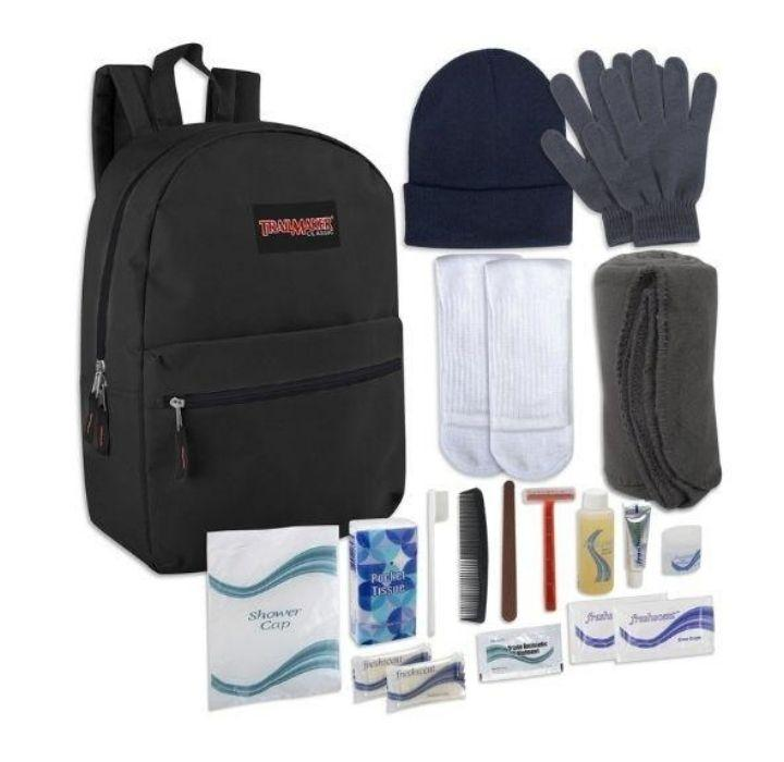 Daily Deals Warm Essentials Backpack Hygiene Kit Backpacks
