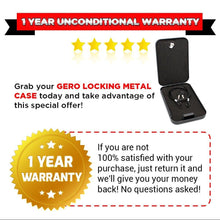GERO Tactical Locking Steel Case w/ Security Cable for Handguns or Valuables
