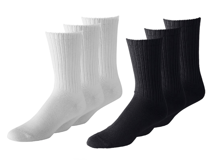 Daily Deals White, Black or Grey Unisex Crew Socks (24 Pairs) Socks