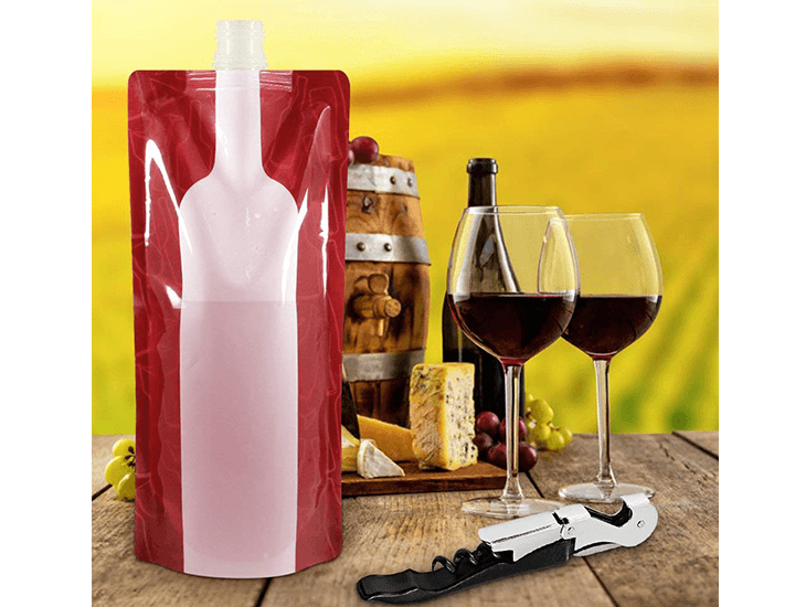 Daily Deals Wine-on-the-Run Reusable & Foldable Wine Flask Wine Carrier Bags