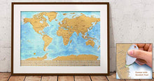 "Scratch-Off 33x25"" World Travel Map - Track Adventures Around the Globe World Globes"