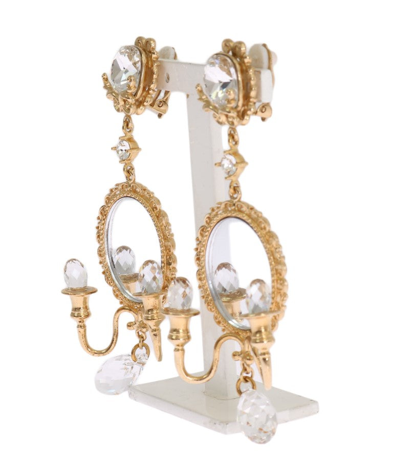 Gold Chandelier Crystal Clip On Earrings Watchoria