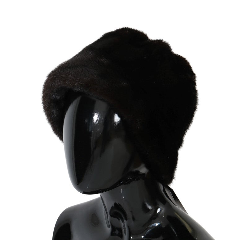 Brown Cashmere Mink Fur Hat Watchoria