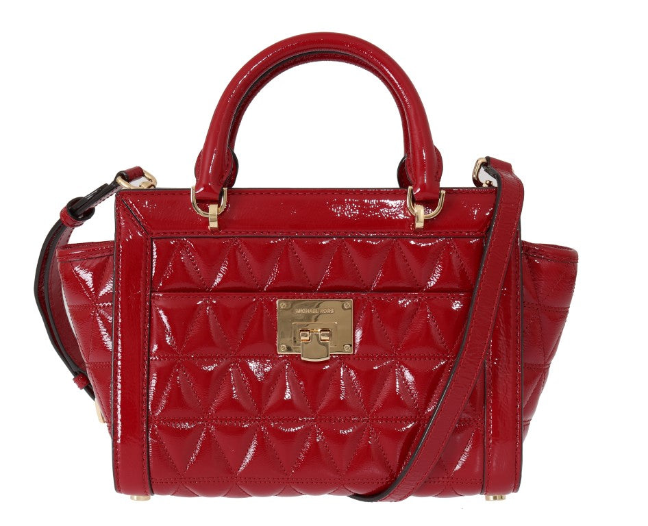 Red VIVIANNE Patent Leather Messenger Bag