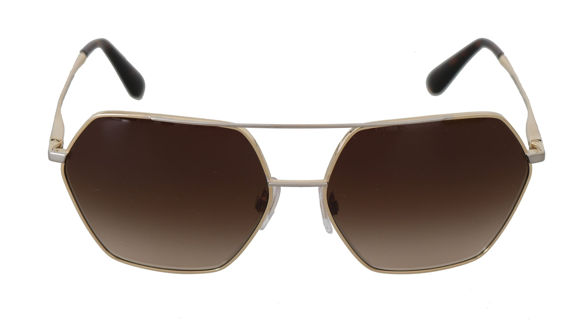 Gold DG2157 Gradient Brown Pilot Sunglasses