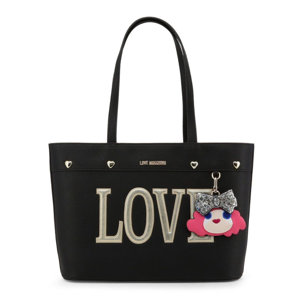 Love Moschino Women Black Shoulder Bag Mod. JC4253PP07KH | Wachoria