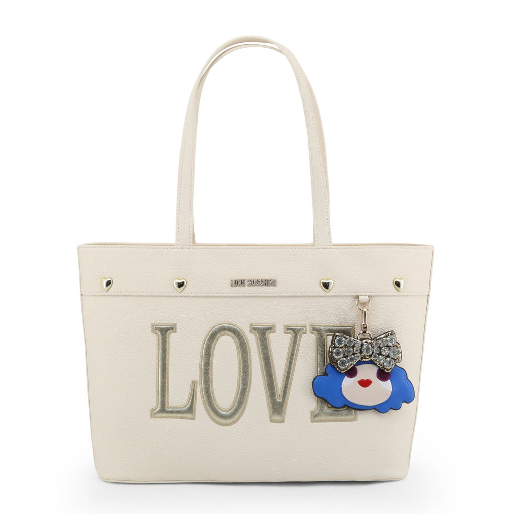 Love Moschino Women White Shoulder Bag Mod. JC4253PP07KH | Wachoria