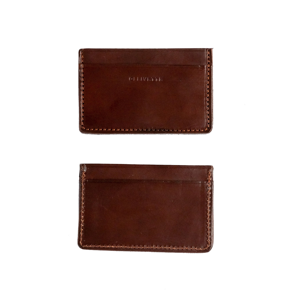 Load image into Gallery viewer, OLLIVETTE Dark Brown Leather Cardholder