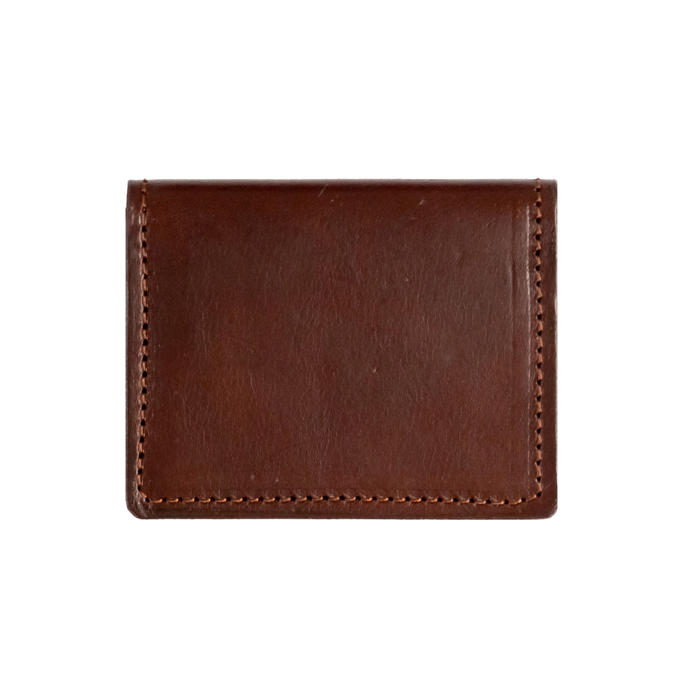 OLLIVETTE Dark Brown Leather Wallet