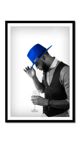 LB MERCY FEDORA (ROYAL BLUE)