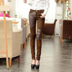 Faux Leather Slim Skinny Trousers Pants