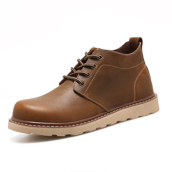 Formal and Casual Vegan Boot, Black and Brown
