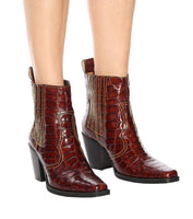 Animal Free Cowboy Ankle Boots