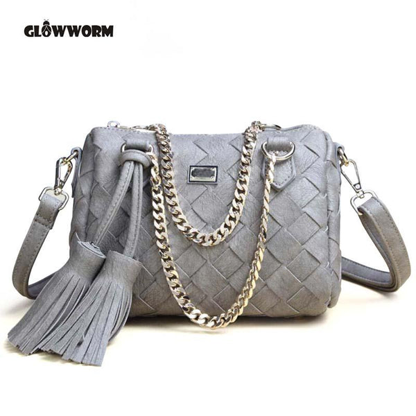 Vegan-Women's Vegan Leather Handbags High Quality Female Hobos Single Shoulder Bags Vintage Big Woven Handmade Ladies Totes Bag
