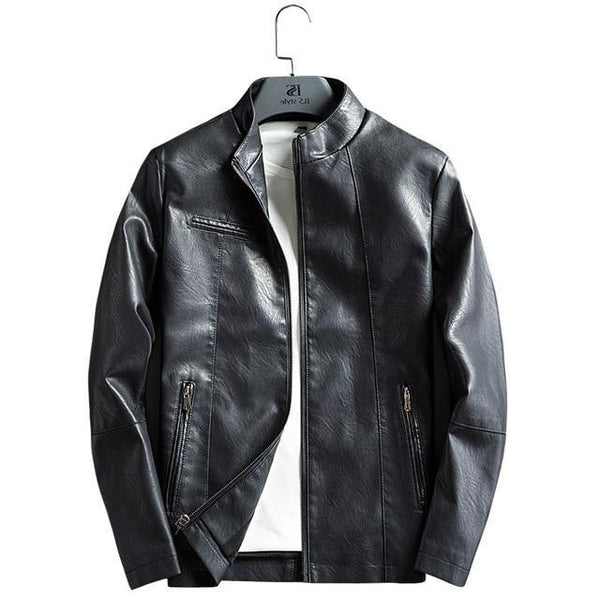 Vegan Men's Bomber Leather Jacket