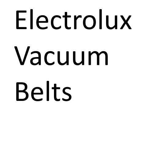 Electrolux Vacuum Cleaner Belts