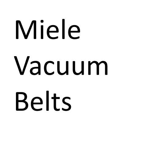 Miele Vacuum Cleaner Belts - GENUINE