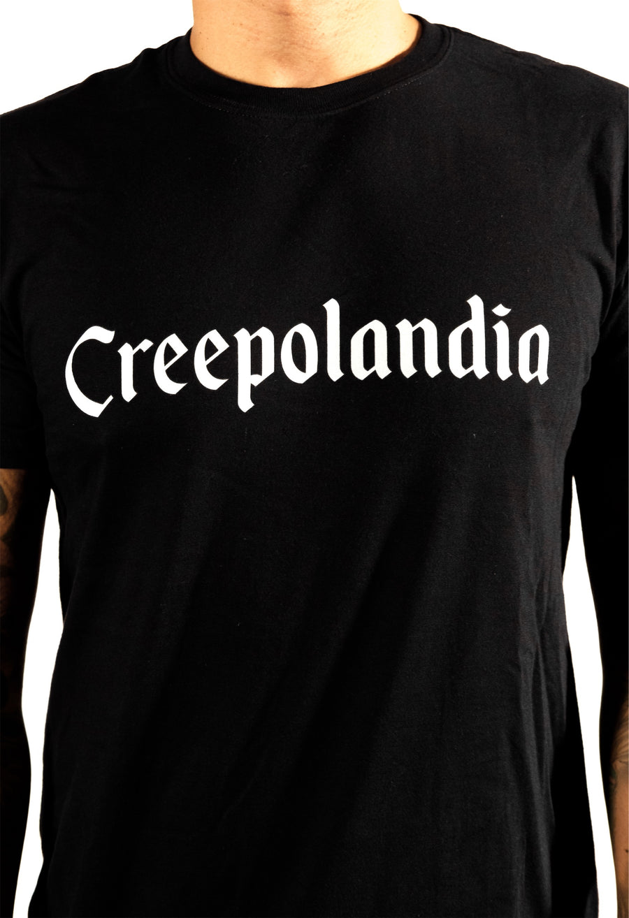 Creepolandia Font Soft Cotton Short-Sleeve T-Shirt