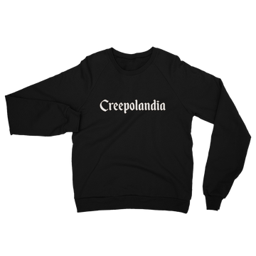 Creepolandia Fleece Raglan Unisex Sweatshirt