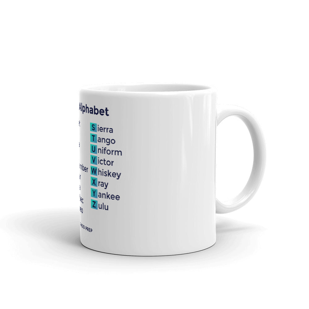 Phonetic Alphabet White Mug