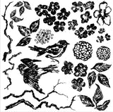 Birds and Branches 12 x 12 Decor Stamp