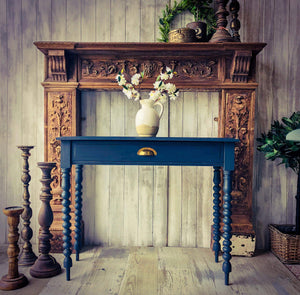 Navy console table