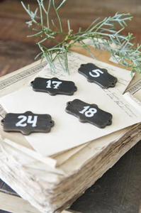 Metal Number Signs 1-24