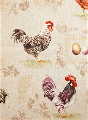 French Hen Fabric