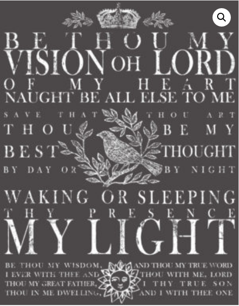 BE THOU MY VISION 11×14 DECOR TRANSFER™