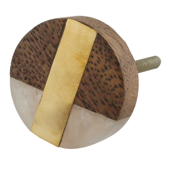 Francesca Wooden Door Knob