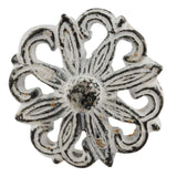 Antique style White iron floral drawer pull/knob