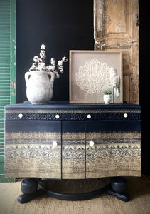 Boho Luxe Vintage Cabinet
