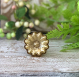 Golden Mercury Sunflower Glass Knob