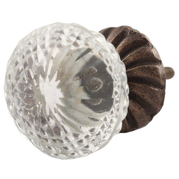 Meghan Antique Glass Door Knob