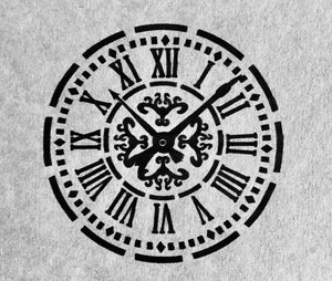 Extra large clock face Stencil
