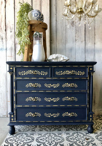 Inlay Oxford Navy Drawers