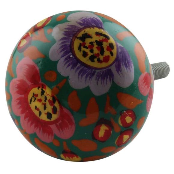 Sophia Boho Multicoloured Flower Handles