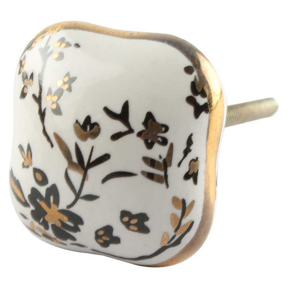 Dolly Floral Ceramic Knob