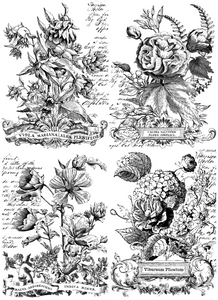 Classic Bouquets 24x33 Paintable Decor Transfer