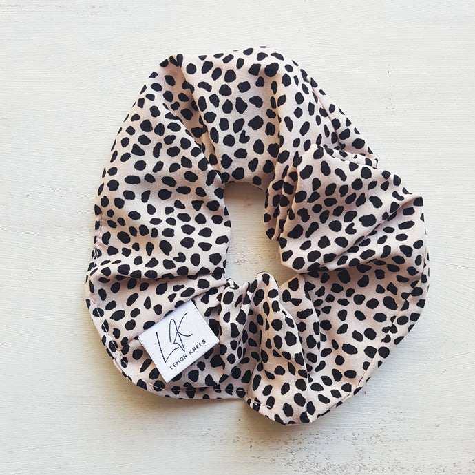 Lemon Knees Vintage Scrunchie - Dotty