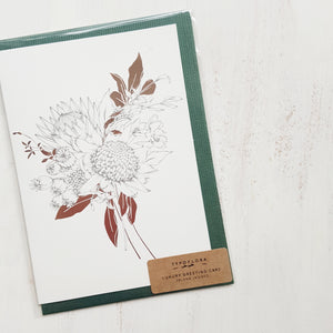 Luxury Greeting Card by Typoflora