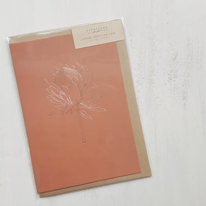 Luxury Greeting Card by Typoflora - Rust