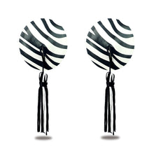 Load image into Gallery viewer, Lovetoy Reusable Zebra Round Tassel Nipple Pasties