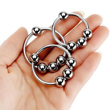 Load image into Gallery viewer, Stainless Steel 4 Ball Penis Ring (Multiple Sizes)