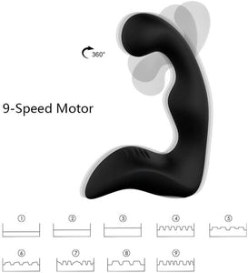 360 Rotation Remote Control Prostate Massager, 9 Function