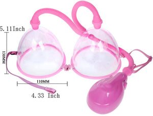 Twin Cup Breast Enlarger Pump with Electric Grip
