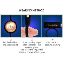 Load image into Gallery viewer, Stronger Glans Trainer Weighted Vibrating Cock Ring, 6pc