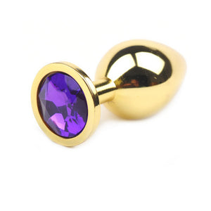 Metallic Gold Butt Plug with Diamond