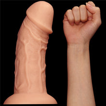 Load image into Gallery viewer, Lovetoy 9.5'' Realistic Curved Dildo